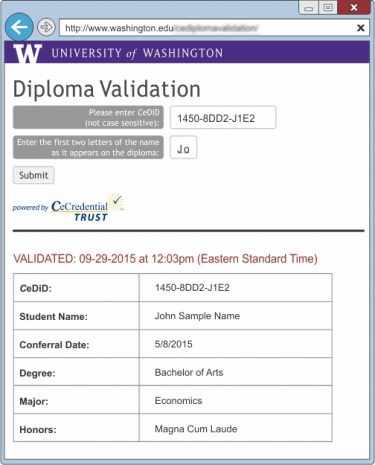 Uni of Washington Benefits-Validation