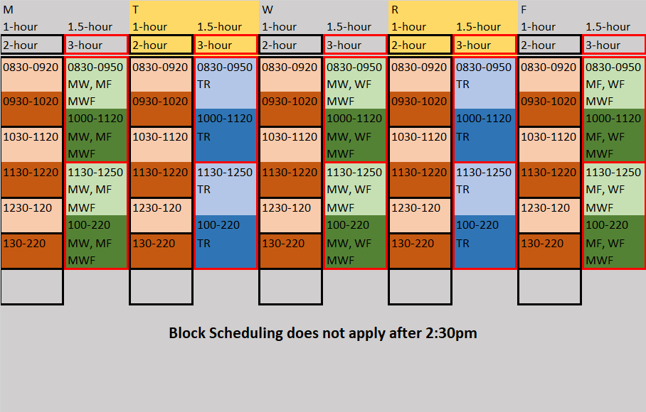 block schedule example