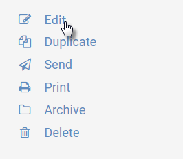 """Image of right-hand menu in the agendas feature of UW CM, highlighting the """"Edit"""" link"""